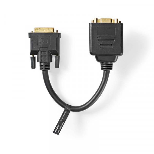 DVI naar DVI + VGA splitkabel 20cm