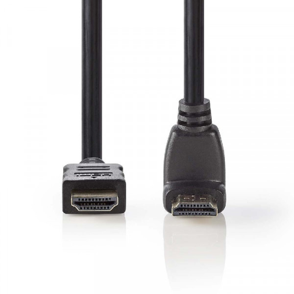 HDMI 1.4 Kabel Verguld Haaks 1.5m Zwart