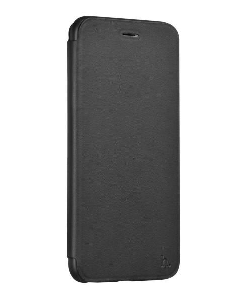 Hoco Juice Series Nappaleer filpcase voor iPhone 6 Plus/6S Plus zwart