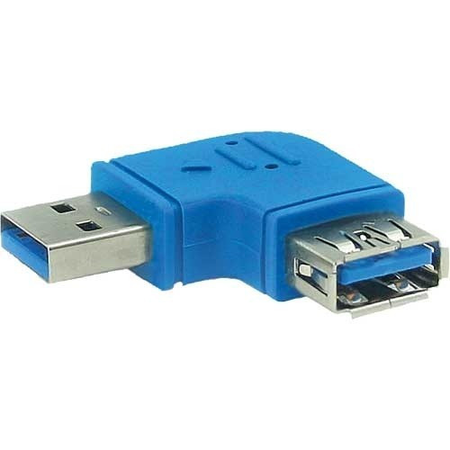 InLine USB 3.0 A-A Haakse adapter links 90°