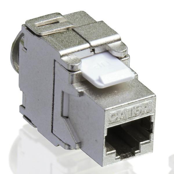 Value RJ45 Keystone Cat6a Zilver