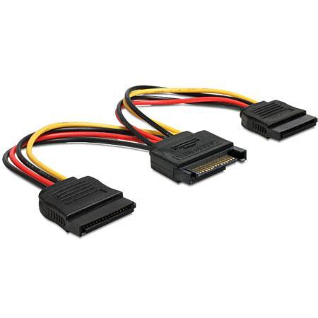 SATA stroom Y-Splitkabel