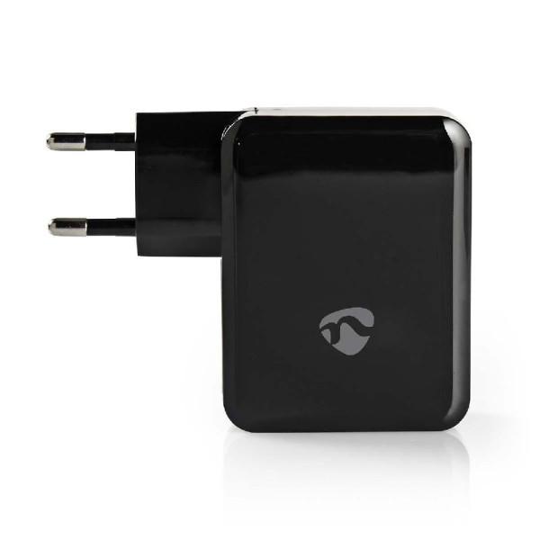 Lader 3 - Uitgangen 4.8 A 2x USB / USB-C Zwart