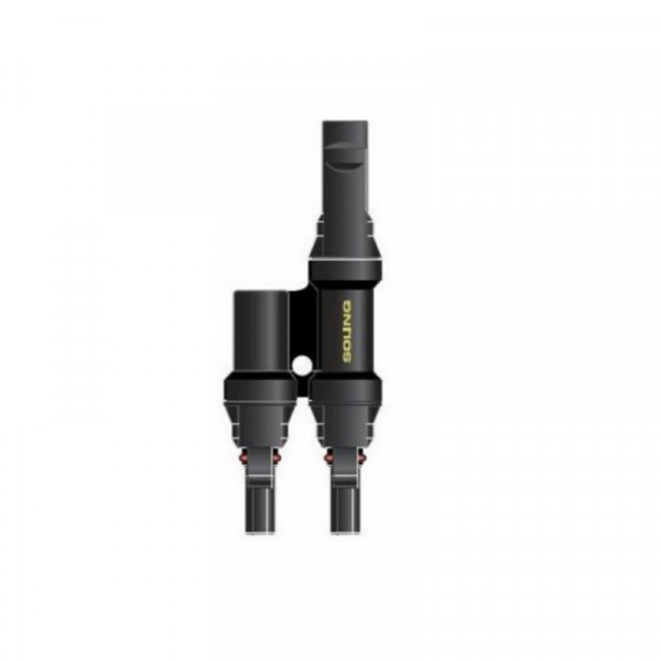 Solinq 41011BF Solar Branche Y-connector 4mm 1x male naar 2x female