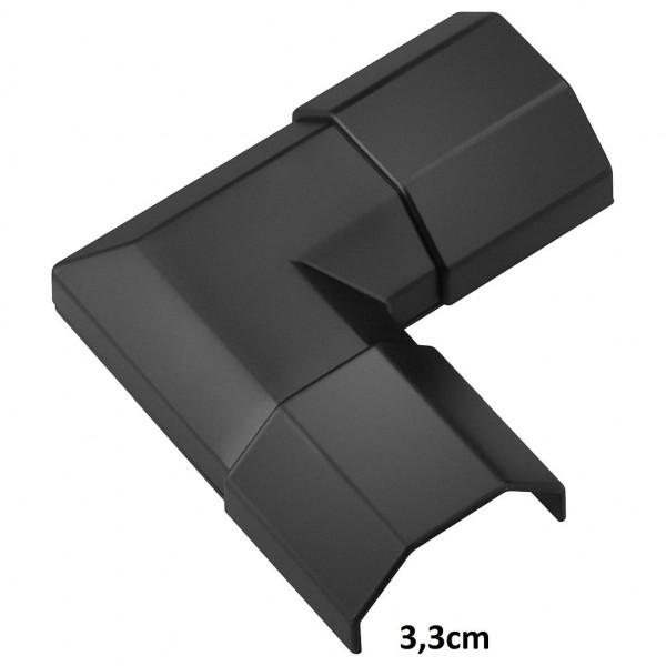 Hoek voor Kabelgoot 33mm 90° Zwart