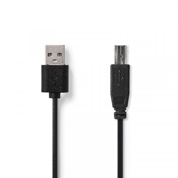 USB 2.0 Kabel 3.00 m Zwart
