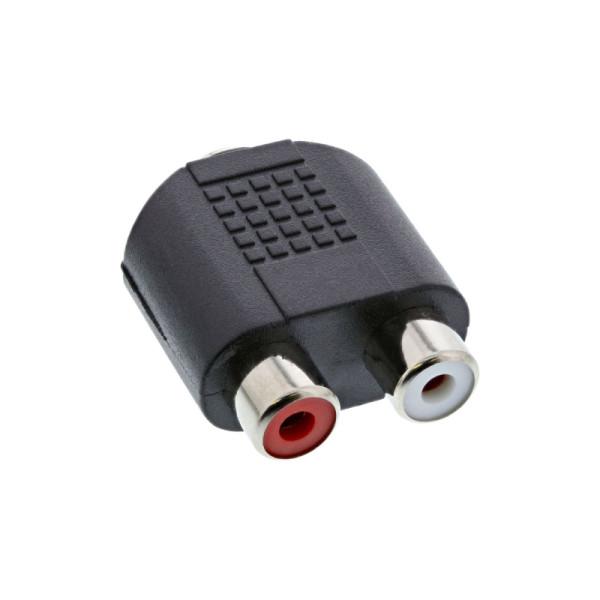 Stereo Tulp (v) - 3,5mm Stereo Jack (v) Adapter - Zwart