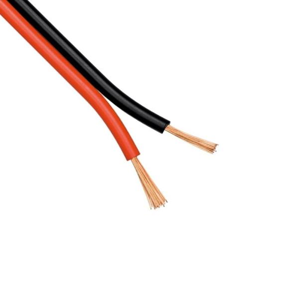 Luidsprekerkabel CCA 2 x 1mm2 - Zwart/Rood - per meter