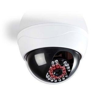 Dummy-camera dome voor buitengebruik met LED Wit