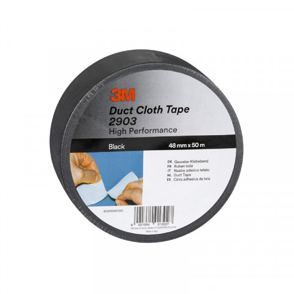 3M Duct tape 48mm breed, 50m Zwart