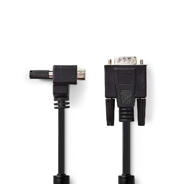 15 pins haakse VGA aansluitkabel 2m zwart