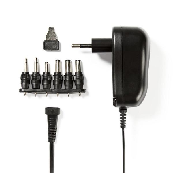 Universele AC/DC Adapter 12 Watt - 3 tot 12V met verwisselbare pluggen