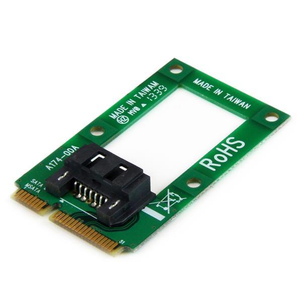 StarTech mSATA-naar-SATA HDD / SSD-adapter – Mini SATA-naar-SATA-converterkaart