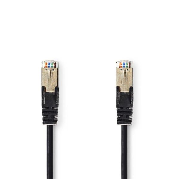 CAT5e S/FTP Netwerkkabel 1m Zwart