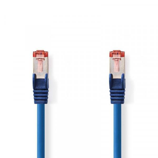 SF/UTP patchkabel netwerkkabel CAT6 blauw 1m