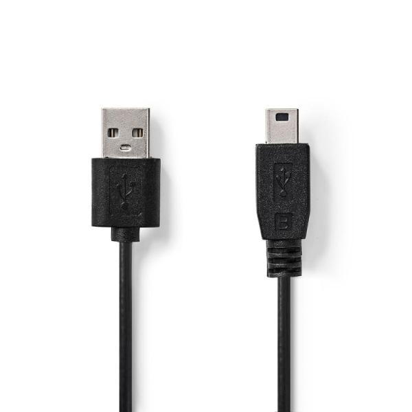 USB 2.0 kabel USB A - USB mini B 5 pins 2m