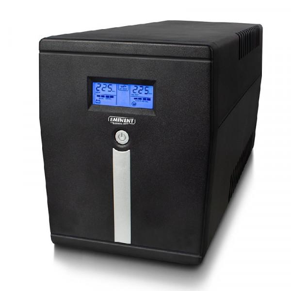 UPS Noodstroomvoorziening 900W met AVR-functie 2x Type F, 1x USB, 1x RS232 en 2x IEC C13