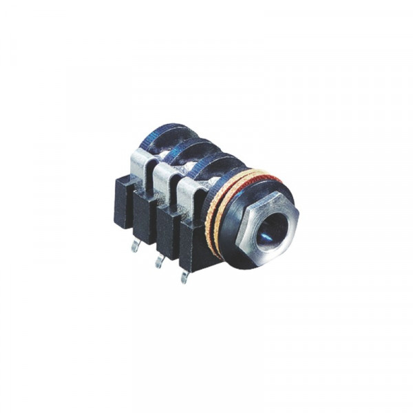 Stereoconnector 6.35 mm Female PVC Zwart
