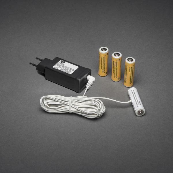 230V - 4x AA Adapter voor batterijartikelen