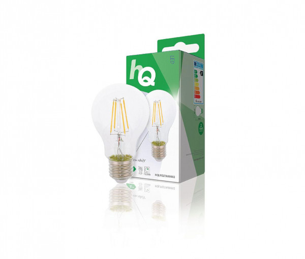 HQ E27 Retro filament LED Peerlamp 6W warm wit