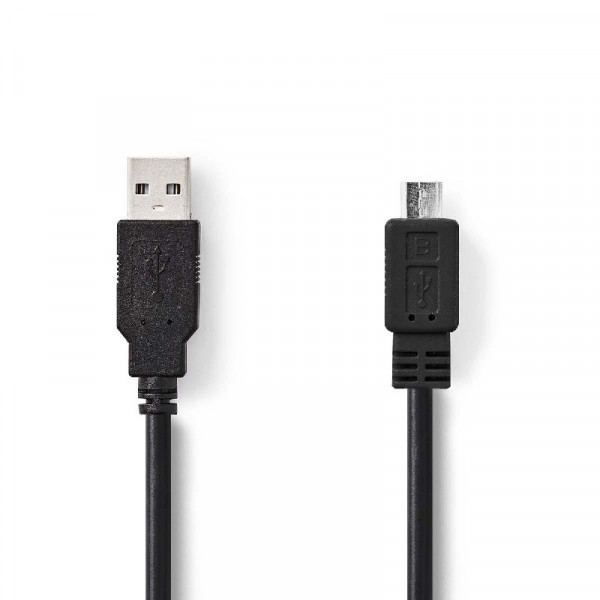 USB 2.0 Kabel Rond 1m Zwart