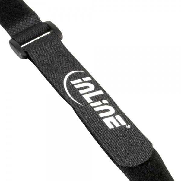 10x Inline klittenband met lus Zwart 30cm