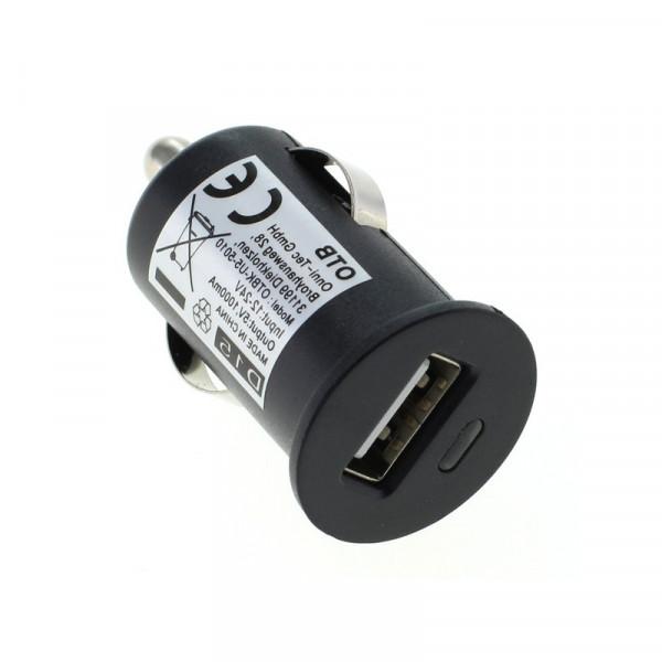 USB Mini Autolader - 5W - Compact - USB-A - Zwart