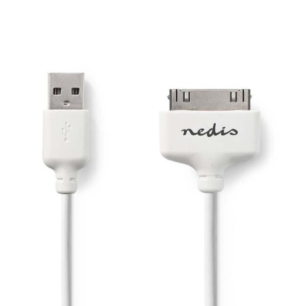 iPod / iPhone / iPad USB Kabel 1m Wit