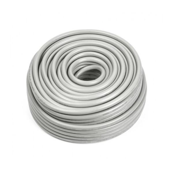 Flexibele (H05VV-F) stroomkabel wit 4 x 0,75mm2 rol 100m