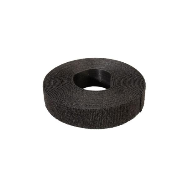 Klittenband / Kabelbinder op rol 25m - 19mm breed Zwart