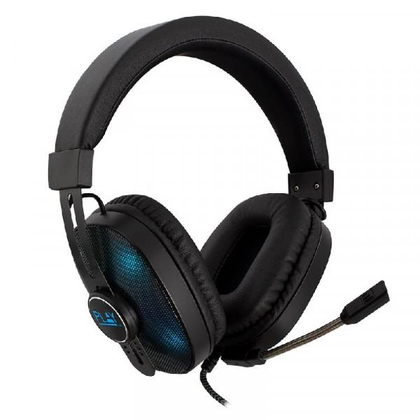 Gaming headset zwart met RGB led verlichting