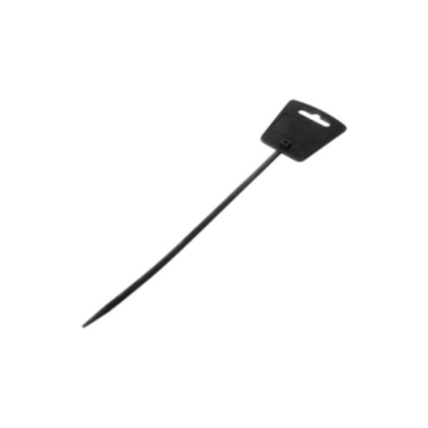 Kabelbinder / Tie-Wrap met label 18cm - 100st zwart