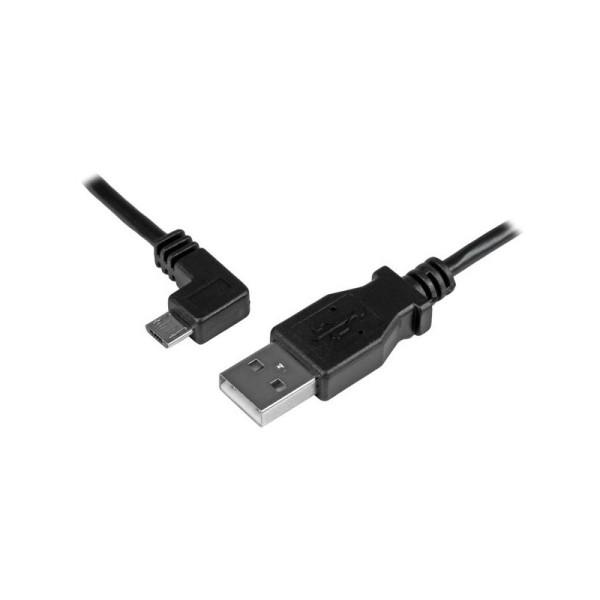 StarTech 2m Micro-USB oplaad en sync kabel - M/M - Micro-USB haaks naar links