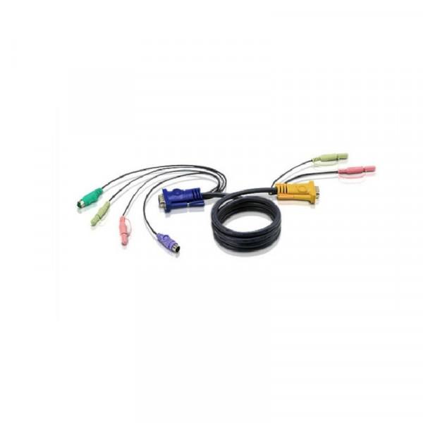 KVM 2L-5302P Kabel VGA PS/2 Audio 1.8m