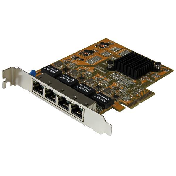 StarTech 4-Poort PCI Express gigabit netwerk adapter kaart - Quad Port PCIe Gigabit NIC