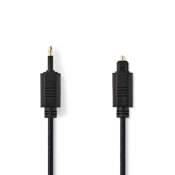 Optische Mini Toslink (m) - Toslink (m) Kabel - 4mm dik - Verguld - 2 meter - Zwart
