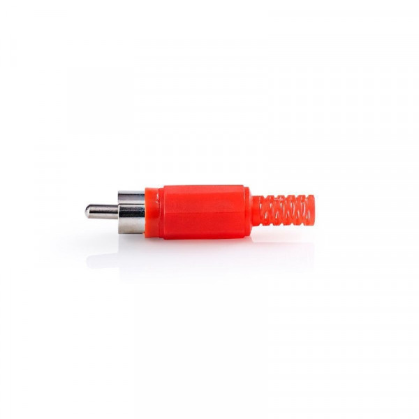 Connector RCA Male PVC Rood