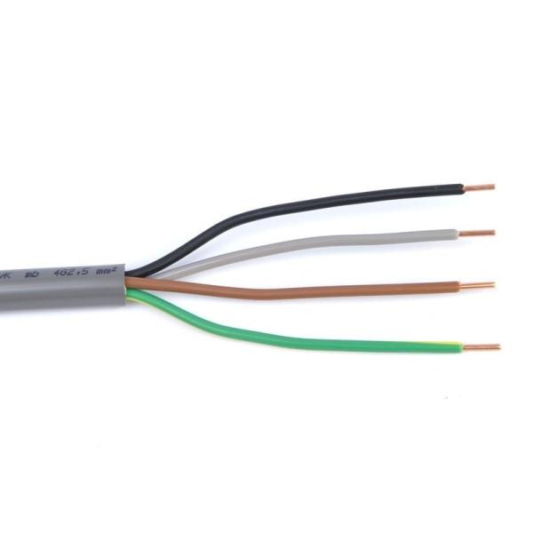 Voikabel YMVK 4x 2,5 mm2 installatiekabel (per meter)