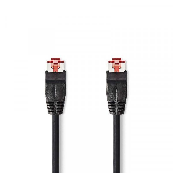 CAT6 UTP Netwerkkabel 0.5m Zwart