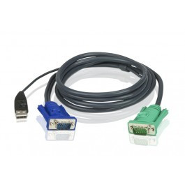 Aten 2L-5202U KVM-Kabel VGA+USB 1,8m