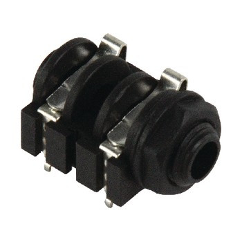 Monoconnector 6.35 mm Female PVC Zwart