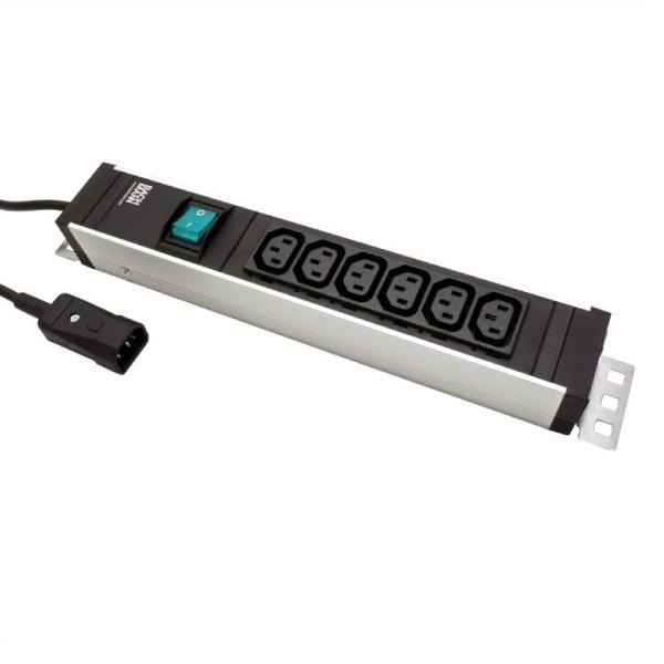 Stekkerdoos met IEC320 6xC13 connectoren