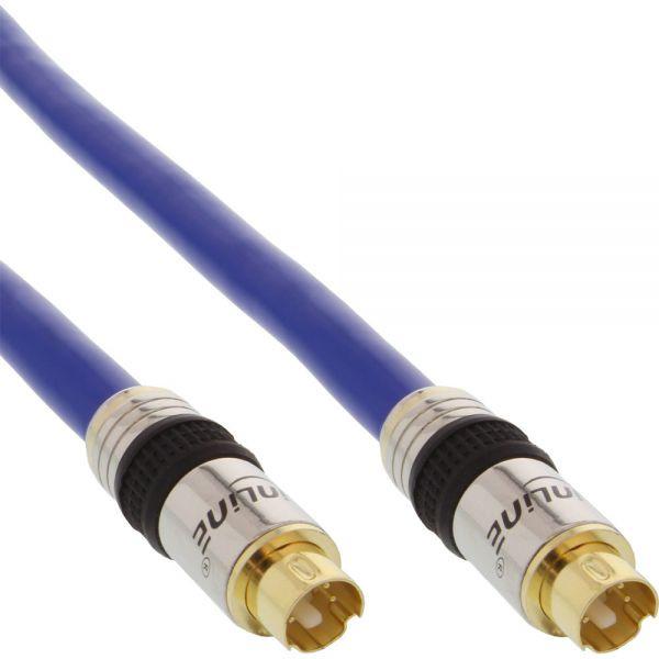 Inline S-VHS Kabel Verguld 1m