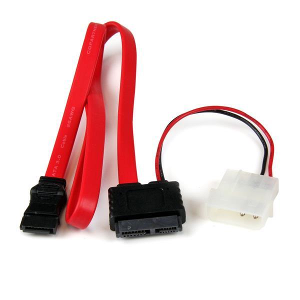 StarTech 90 cm Slimline SATA naar SATA Adapter met LP4 Voeding