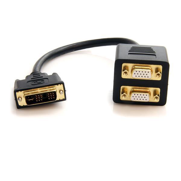 StarTech 30 cm lange DVI-I analoog naar 2x VGA videosplitterkabel - M/F