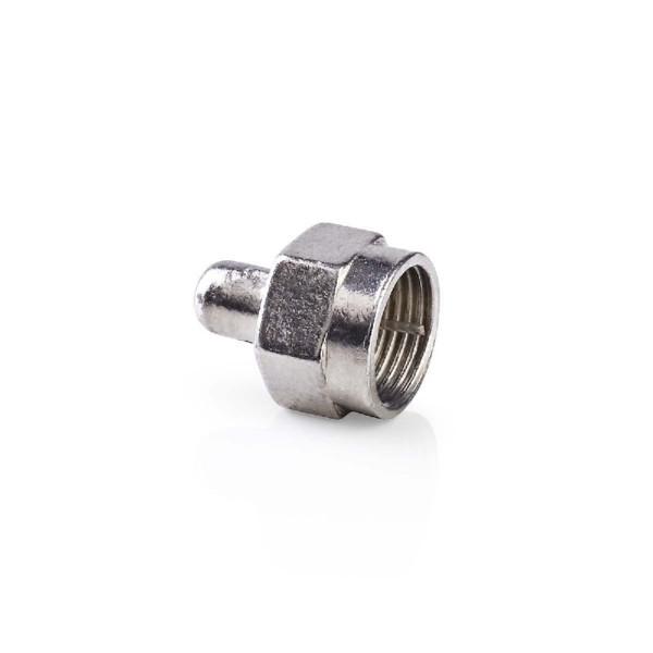 F-Connector Male Metaal Zilver