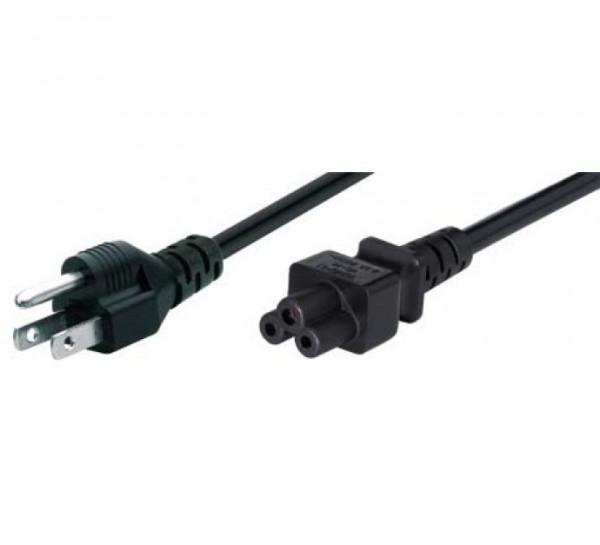 3-pins C5 netsnoer stroomkabel met USA aansluiting 1,8m