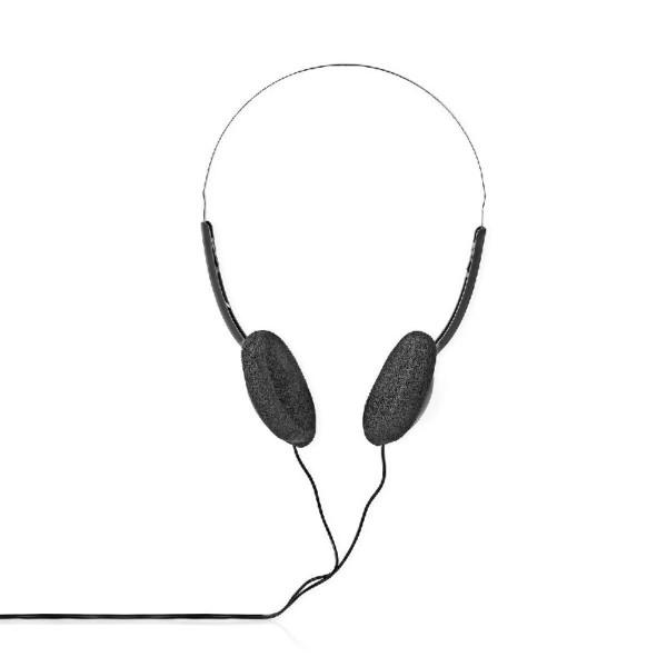 Stereo Hoofdtelefoon - 1x 3,5mm Jack - 1,2 meter - Basic - Zwart/Zilver