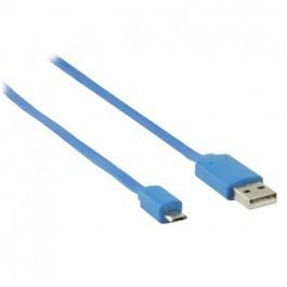 USB 2.0 A - Micro USB B Kabel 1m Blauw