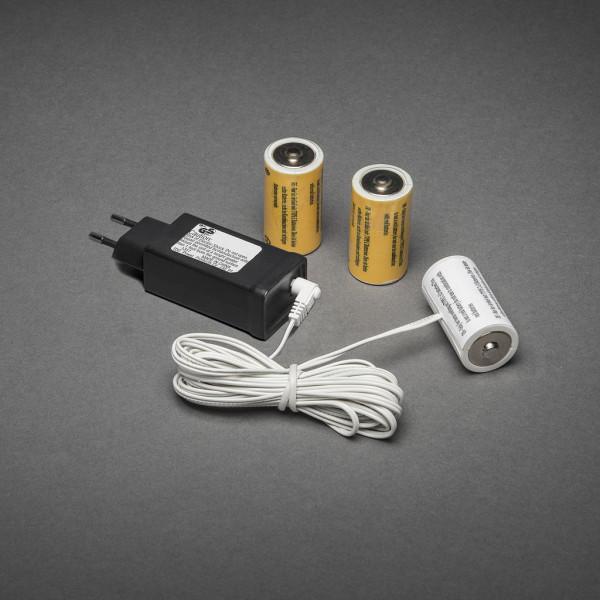 230V - 3x C Adapter voor batterijartikelen